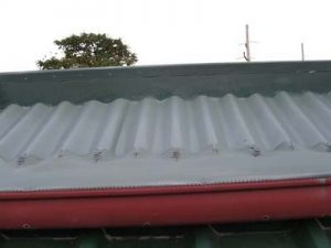 9-4-Gutter Guardian Colorbond Corrugated Roof